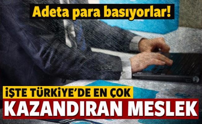 Türkiye'de En Çok Kazandıran Meslekler Belli Oldu