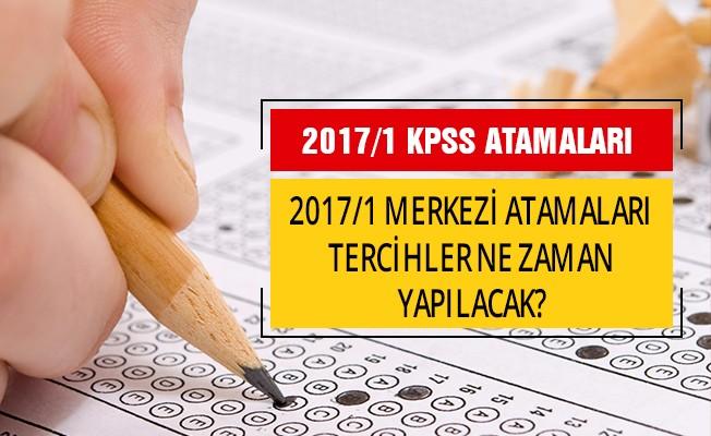 KPSS 2017/1 Merkezi Atama Tercihleri Ne Zaman Yapılacak ?