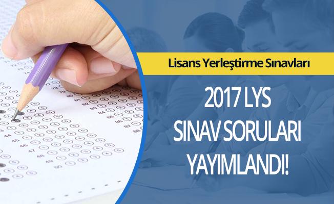 LYS soru ve cevapları yayımlandı