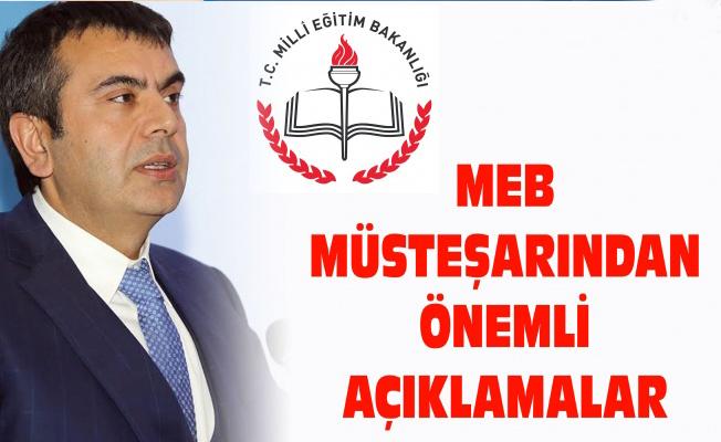 MEB Müsteşarından önemli açıklamalar