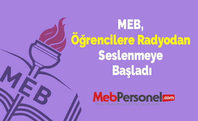 MEB, Öğrencilere Radyodan Seslenmeye Başladı