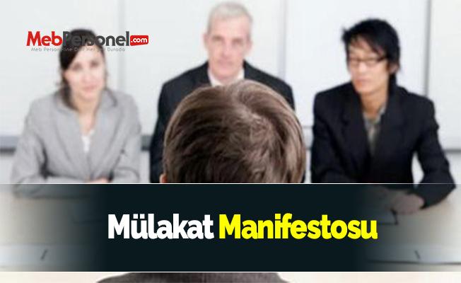 Mülakat Manifestosu