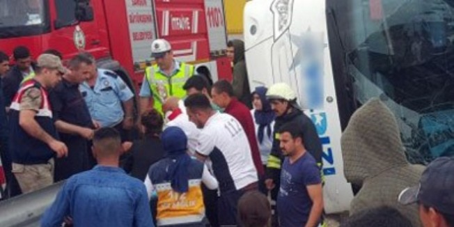 Şehit öğretmenin teyzesi ile eniştesi kazada yaralandı