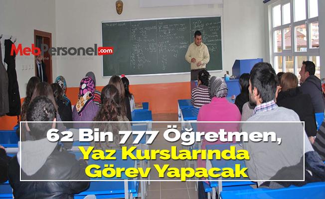 62 Bin 777 Öğretmen, Yaz Kurslarında Görev Yapacak