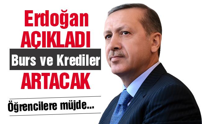 Erdoğan: Öğrenim Kredisi ve Burslar artacak