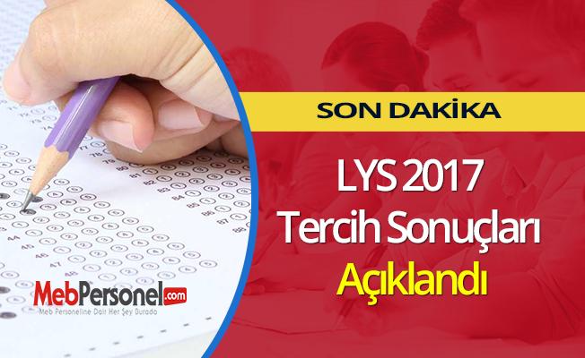 LYS 2017 Tercih Sonuçları Açıklandı