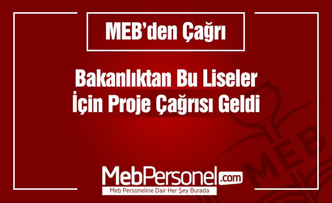 MEB'den proje çağrısı