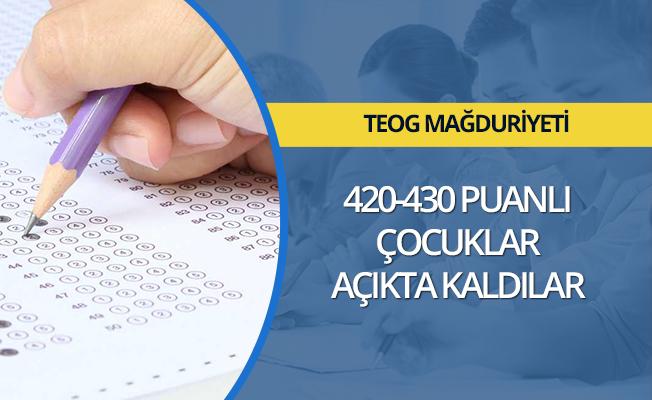 TEOG mağduriyeti: 420-430 puanlı çocuklar açıkta kaldılar