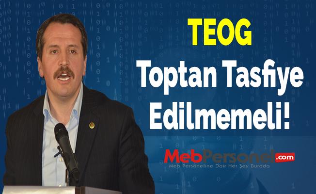 Ali Yalçın: TEOG Toptan Tasfiye Edilmemeli!