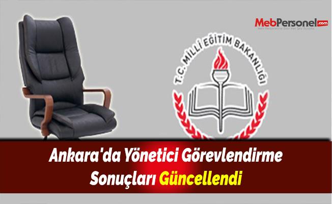 Ankara'da Yönetici Görevlendirme Sonuçları Güncellendi