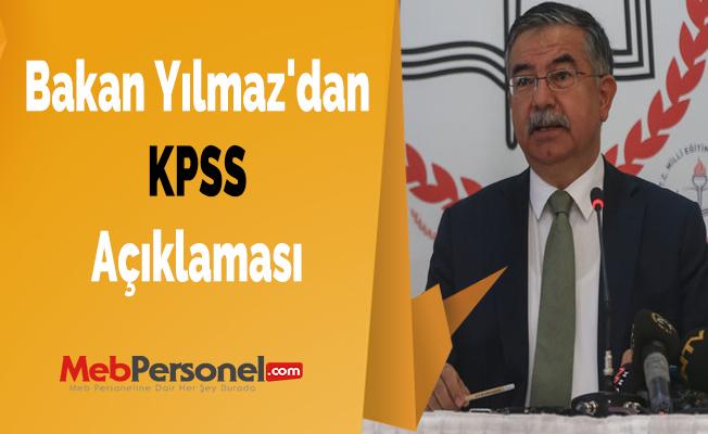 Bakan Yılmaz'dan KPSS Açıklaması