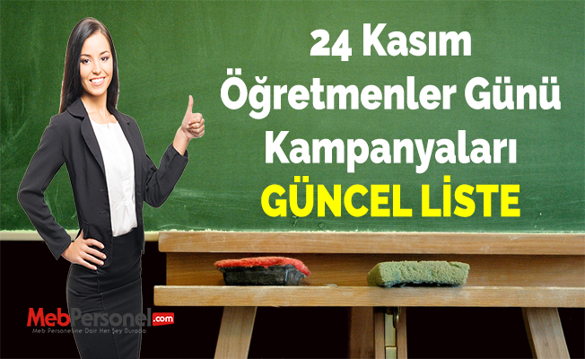 24 Kasım Öğretmenler Günü Kampanyaları