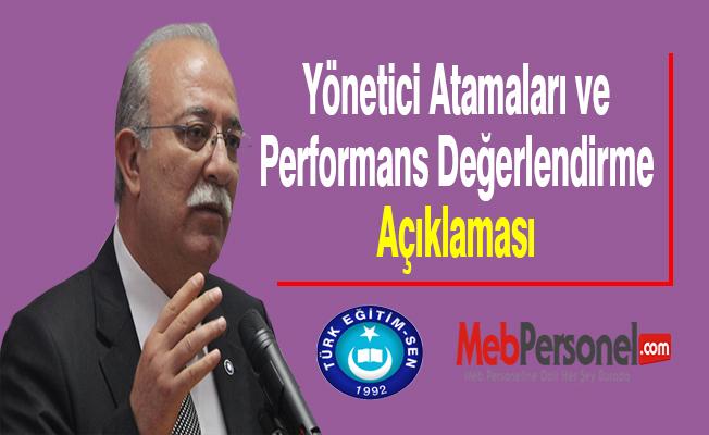 Koncuk'tan ''Yönetici Atamaları ve Performans Değerlendirme'' Açıklaması
