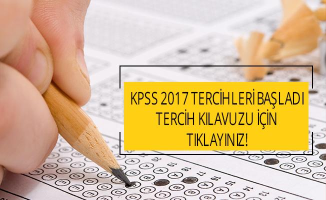 KPSS 2017 tercihleri başladı (KPSS 2017/2 Tercih Kılavuzu)