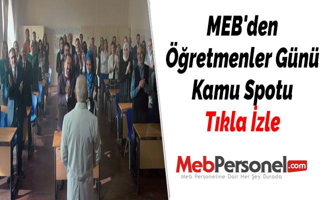 MEB'den Öğretmenler Günü Kamu Spotu - Tıkla İzle
