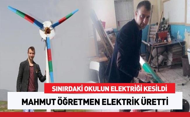 Sınırdaki okulun elektriği kesildi, Mahmut Öğretmen elektrik üretti