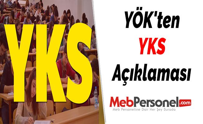 YÖK'ten YKS Açıklaması