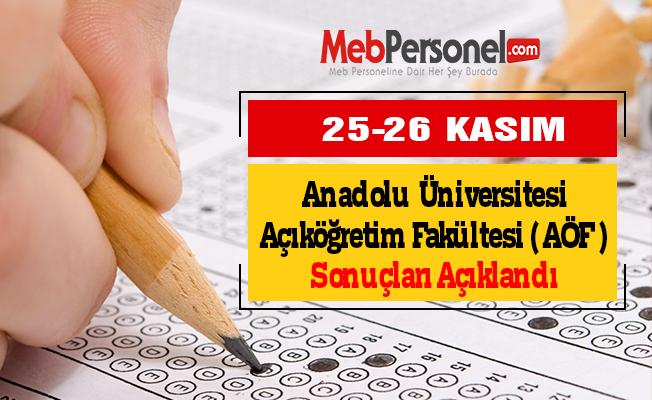 Anadolu Üniversitesi Açıköğretim Fakültesi (AÖF) Sonuçları Açıklandı