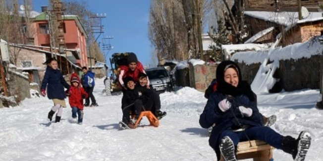 Kar tatili en çok onları sevindirdi