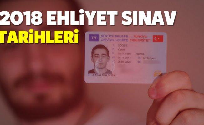2018 Ehliyet sınav tarihleri ne zaman? MEB tarihi...