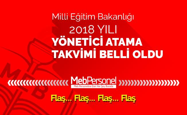 2018 Yönetici Atama Takvimi MEB Tarafından Açıklandı