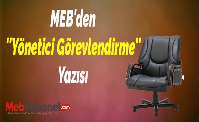 MEB'den ''Yönetici Görevlendirme'' Yazısı