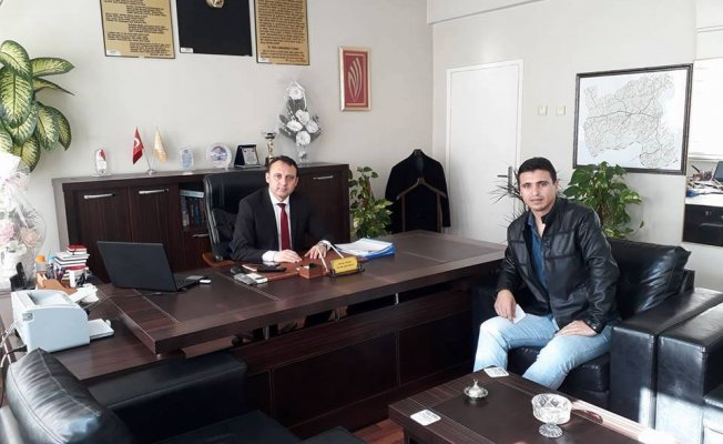 Murat Mehmet Güler'den İlçe Milli Eğitim Müdürü Hüseyin Güneş'e Ziyaret