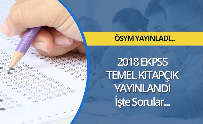 EKPSS temel soru kitapçıkları yayımlandı