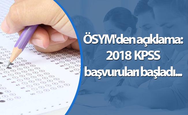 ÖSYM'den açıklama: KPSS başvuruları başladı...