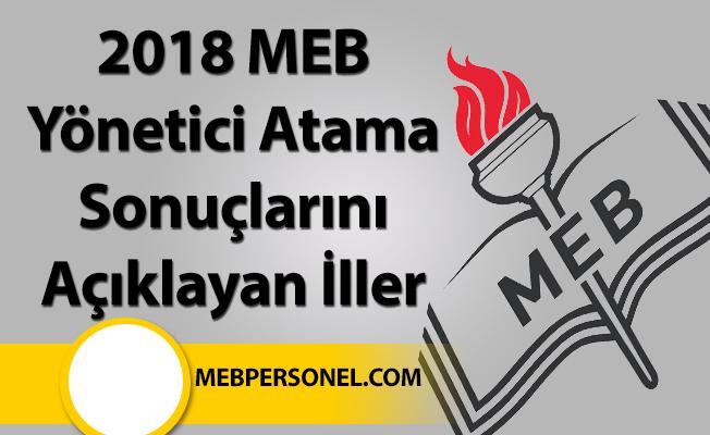 2018 MEB Yönetici Atama Sonuçlarını Açıklayan İller-79