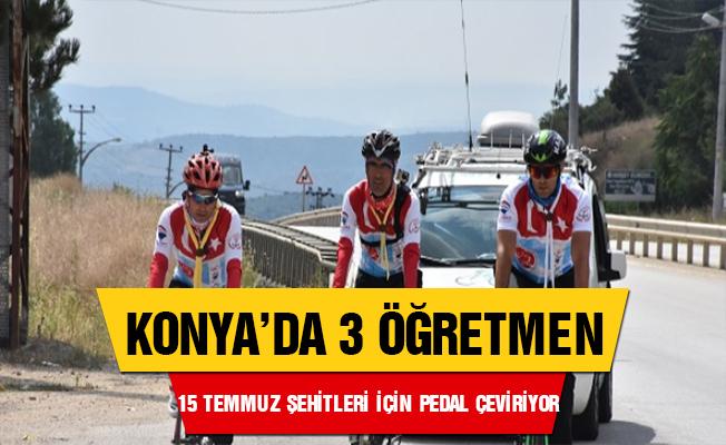 Öğretmenler 15 Temmuz şehitleri için pedal çeviriyor