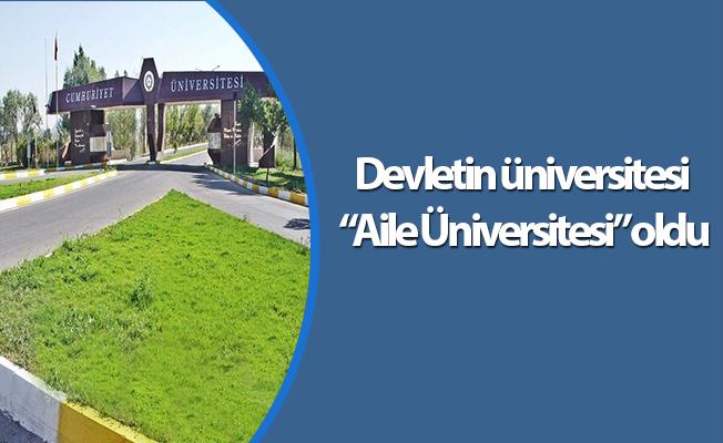 """Devletin üniversitesi """"Aile Üniversitesi"""" oldu"""