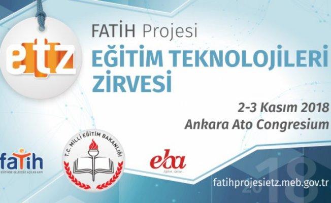 """""""FATİH Projesi Eğitim Teknolojileri Zirvesi"""" 2-3 Kasım'da gerçekleşecek"""