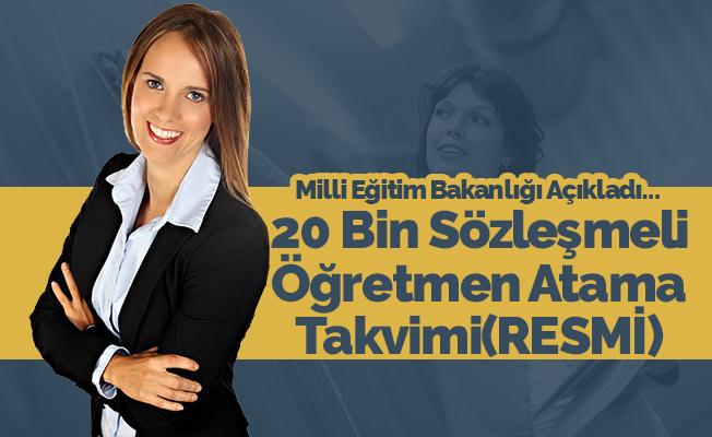 MEB, 20 Bin Sözleşmeli Öğretmen Atama Takvimi Açıklandı