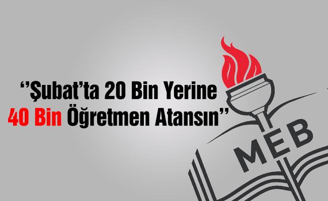 İsmail Koncuk'tan Ek 20 Bin Öğretmen Ataması Talebi