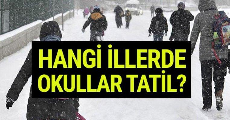 14 Ocak Pazartesi Günü Okullara Kar Tatili Olan İller