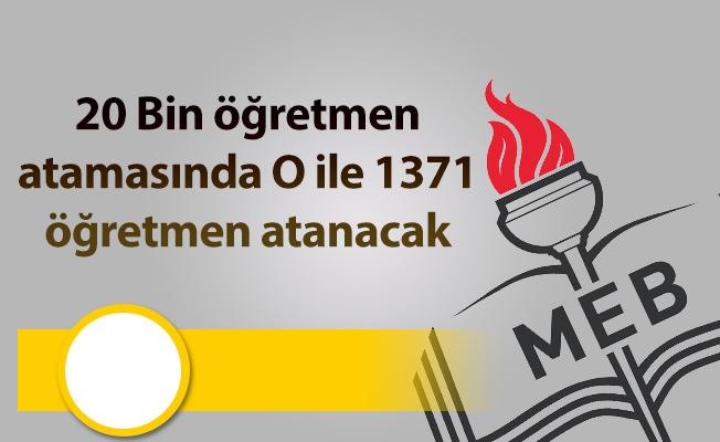 20 Bin öğretmen atamasında O ile 1371 öğretmen atanacak