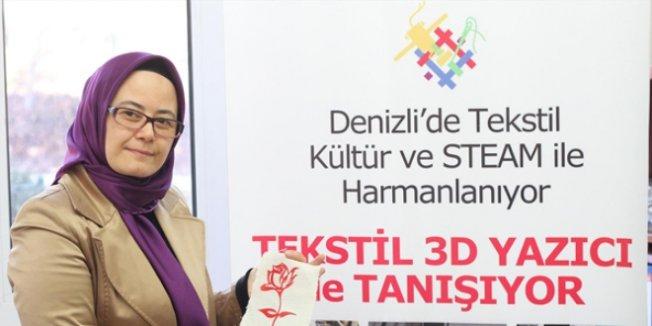 Liseliler 3D yazıcı tasarlayıp tekstil ürünü yaptılar