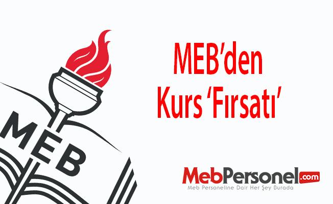 MEB'den Kurs 'Fırsatı'