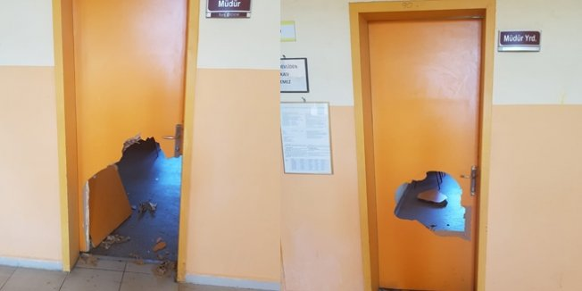 Okul hırsızları yakayı ele verdi