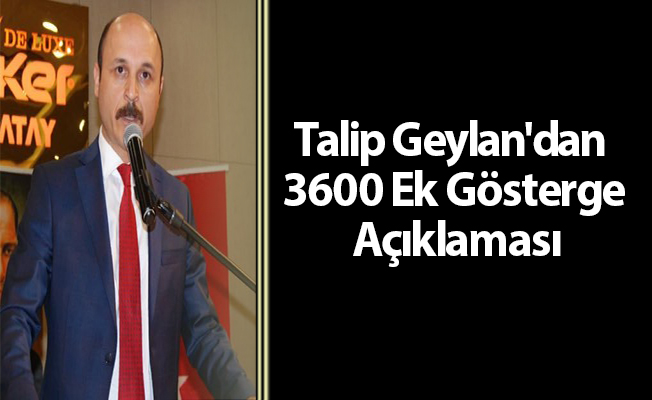 Talip Geylan'dan 3600 Ek Gösterge Açıklaması