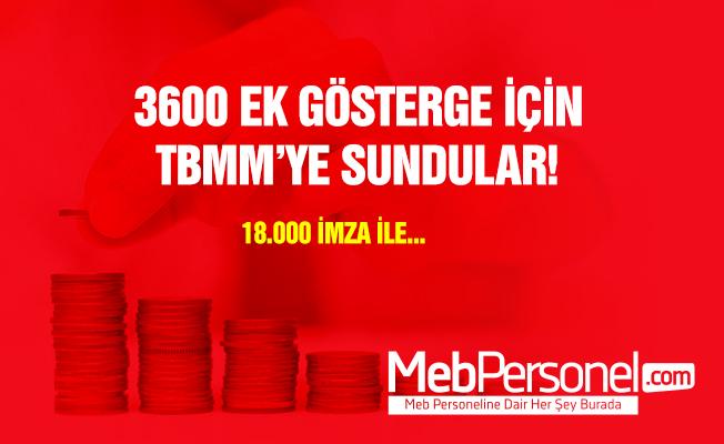 3600 ek gösterge için 18 bin imza TBMM'ye sunuldu