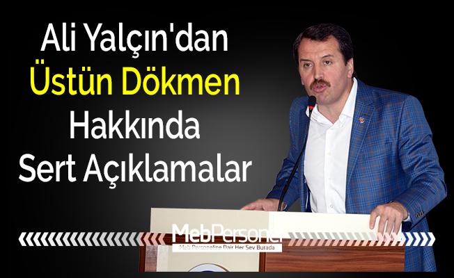 Ali Yalçın'dan Üstün Dökmen Hakkında Sert Açıklamalar