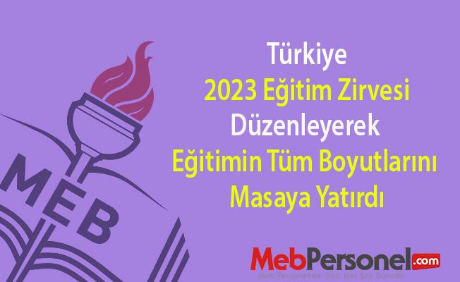 Türkiye 2023 Eğitim Zirvesi Düzenleyerek Eğitimin Tüm Boyutlarını Masaya Yatırdı