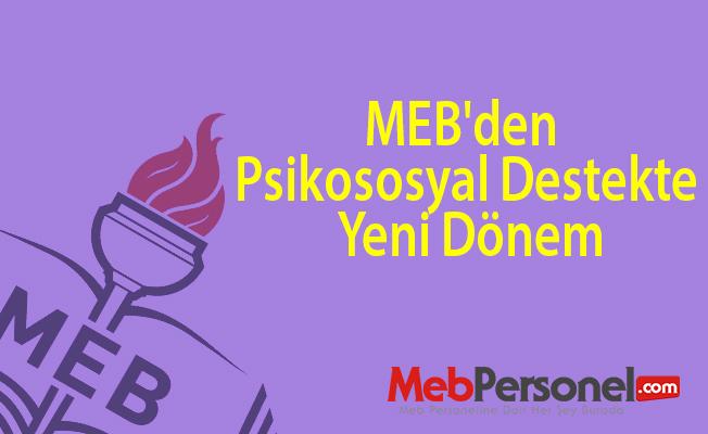 MEB'den psikososyal destekte yeni dönem