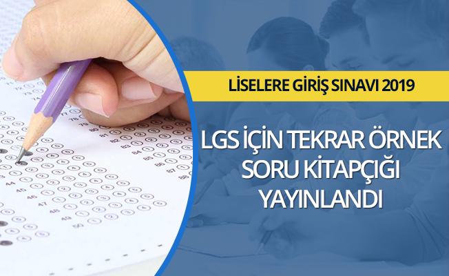 LGS için yeni örnek soru kitapçığı yayımlandı