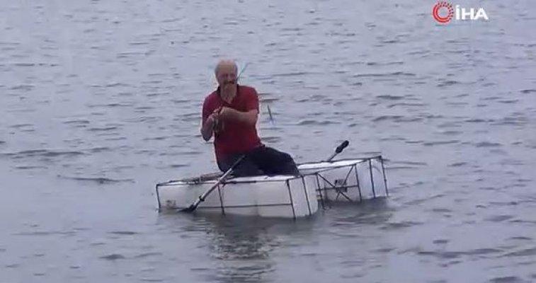 Öğretmenin Karadeniz usulü teknesi görenleri şaşırtıyor