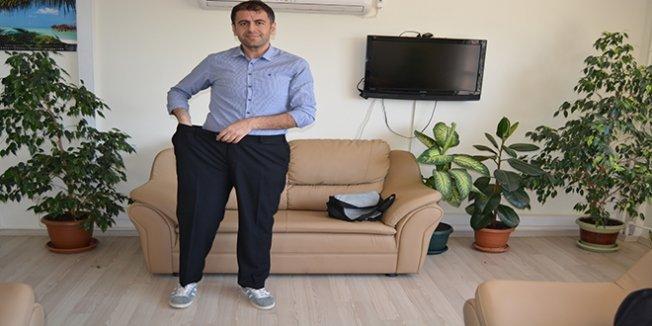 Okul müdürü, çocukları için 68 kilo verdi