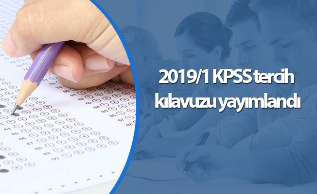 2019/1 KPSS tercih kılavuzu yayımlandı