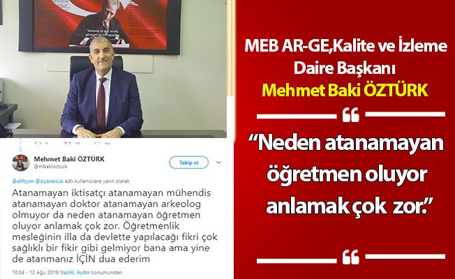 MEB Daire Başkanı: Neden atanamayan öğretmen oluyor anlamak çok zor..